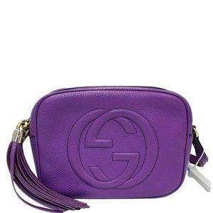 GUCCI Soho Disco Pebbled Leather Crossbody Bag